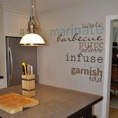 What a unique way to add pizazz to a blank kitchen wall! Creating custom designs are so easy with Uppercase Living. Yellow Cabinets, Kitchen Reno, Kitchen Ideas, Kitchen Walls, Kitchen Nook, Kitchen Inspiration, Kitchen Designs, Kitchen Interior, Creative Inspiration