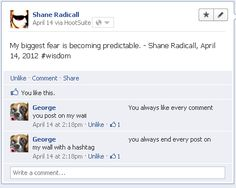 Is Shane Radicall becoming predictable? http://www.shaneradicall.com