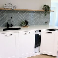 Mudroom Laundry Room, Laundry Room Remodel, Laundry Decor, Laundry In Bathroom, Kitchen Remodel, Concealed Laundry, Modern Laundry Rooms, Laundry Room Inspiration, Laundry Room Design