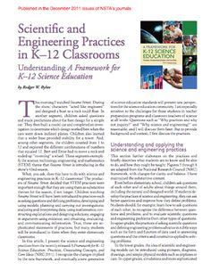 Here's an article on scientific and engineering practices in K-12 classrooms.