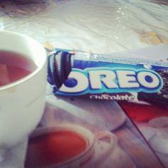 Oreó al desayuno, el top *-*  #desayono #oreo #biscotti #tea