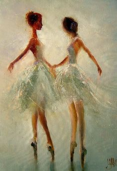 ballet- i've always been fascinated with ballet. i wish i had taken ballet classes as a child. it's a beautiful art....but since it's too late.... i'll stick to painting it haha