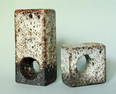 Set of Two Dutch Fat Lava Chimney Vases by Vest by GoGoBerlinette