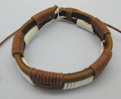 Shoply.com -Fashion bracelet made by leather and rope  Cuff leather bracelet. Only $2.99