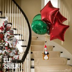Wow, this scout elf made quite an entrance this morning! What a grand way to fly!   Elf on the Shelf Ideas