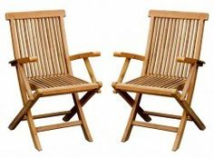 £100 for pair Bentley Garden Pair Of Teak Folding Arm Chairs 1