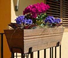 Balconera 55cm Rústica #decoracion #jardin #plantas