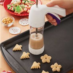 Classic Spritz Cookies are an easy way to add variety to a tray of cookies. A cookie press lets you change disks to produce many different shapes. Serve them plain, sprinkled with decorations or sugars, frosted or dipped in melted candy!