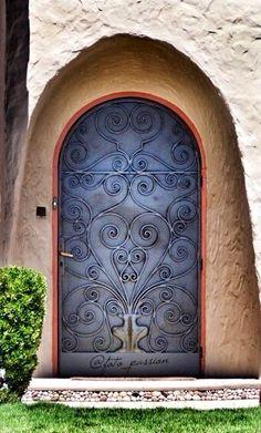 front door paint colors - Want a quick makeover? Paint your front door a different color. Here's some inspiration for you. Grand Entrance, Entrance Doors, Doorway, Knobs And Knockers, Door Knobs, Door Handles, Cool Doors, Unique Doors, Gates