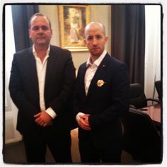 Prince Jorge Rurikovich with The Minister of Economy of Malta, H.E. Christian Cardona