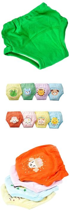 [Visit to Buy] ABWE 4 X Baby Toddler Girls Boys Cute 4 Layers Waterproof Potty Training Pants reusable 1-2 Years #Advertisement