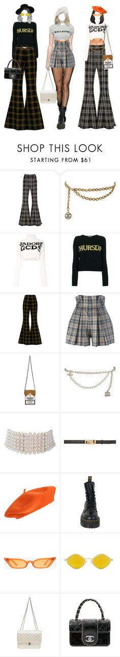 """School on Thurs."" by xannres ❤ liked on Polyvore featuring Beaufille, Chanel, GCDS, Alberta Ferretti, SemSem, Vivienne Westwood Anglomania, MUA MUA, Marina J., Miu Miu and Dr. Martens"