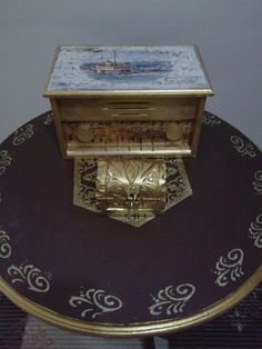 Minik takı kutum da altın boyadan nasibini aldı :)
