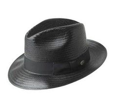 BAILEY CLENNAN FEDORA STRAW HAT
