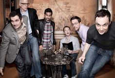 Ty Burrell, Ted Danson, Aziz Ansari, Neil Patrick Harris, Ed Helms, and Jim Parsons. Photo by Dan Busta. I want to hang out with all of these people.