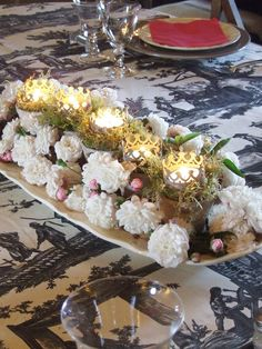 my dinner table last weekend - Sharon Santoni
