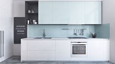 Minimalist and great kitchen design with white color... | Visit : roohome.com    #kitchen #decoration #amazing #awesome #simple #interior #creative #fabulous #unique