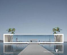 "964 Likes, 13 Comments - Arthectonica (@arthectonica) on Instagram: ""Minimalist Pavilion Resort. Concept 4 (2016). Teotimo Architect (Tenerife-Canary Islands-Spain).…"" #fachadasminimalistas"