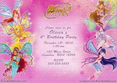 Winx Club Custom Birthday Invitation, $10