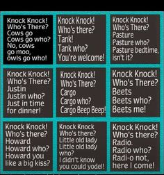 Knock Knock jokes fun when you're young. - Jokes - Funny memes - - Knock Knock jokes fun when you're young. The post Knock Knock jokes fun when you're young. appeared first on Gag Dad. Funny Jokes For Kids, Corny Jokes, Funny Jokes To Tell, Dad Jokes, Funny Texts, Puns Jokes, Mom Funny, Funny Family, Funny School