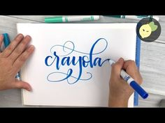 How To Do Crayola Calligraphy - Tutorial On What Techniques Work For Me When I Hand Letter. I love Crayola markers and give you my tips and tricks on doing calligraphy with these inexpensive pens. It takes practice, but I am happy to show you what works Hand Lettering For Beginners, Calligraphy For Beginners, Hand Lettering Tutorial, Hand Lettering Fonts, Creative Lettering, Doodle Lettering, Brush Lettering, How To Do Calligraphy Tutorials, Lettering Styles