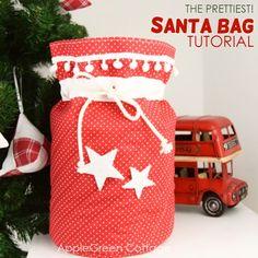 d3c5650515f Santa bag - the prettiest Santa sack to sew Ear Warmer Headband, Santa Sack,