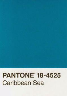 Pantone 18-4535 Caribbean Sea - Maison21's color pick for 2015
