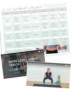 30-day workout calendar {free workouts + videos} | nourish move love