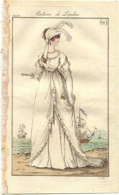 Ball gown or dinner dress, English, 1803.