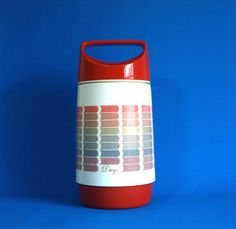 Funky Rotpunkt Diego Thermos Vacuum Flask  70s Red by FunkyKoala