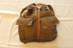 On sale now--20% off: Czech army bag issued Vintage Army Backpack, Canvas 1950s Rucksack