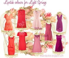 """""""Lipstick colours for Light Springs"""" by carolgrant on Polyvore"""