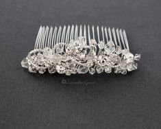 Crystal Beaded Tiara Comb - Cassandra Lynne Back Combing, Wedding Tiaras, Swarovski Crystal Beads, Bugle Beads, Bridal Tiara, Bridal Accessories, Headbands, Hair Combs, Twinkle Twinkle