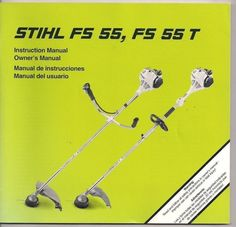 Stihl Fs String Trimmer Owners Instruction Maintenance Assembly