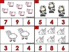 FREE FARM ANIMAL COUNT AND CLIP CARDS (1-12)