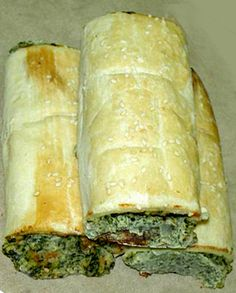 Spinich, cream cheese, garlic, and crescent rolls. This looks delicious too @Dana H