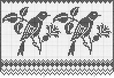 Szydełkomania: Ptaszki na gałązce