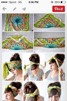 Pin Up Hair Tutorials With Bandanas