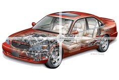 Camry sedan cutaway