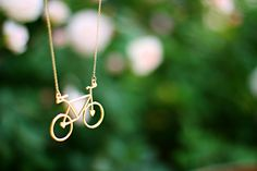 Bicycle necklace // Forever 21