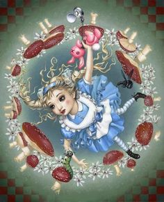 Alice in Wonderland, chenille, Trevor Brown