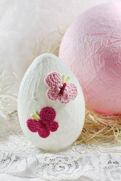 """Leuchtendes Ei """" Schmetterlinge  """" von Creativablue auf DaWanda.com"""