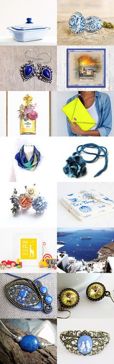 Yellow Blues by Linda Karen on Etsy--Pinned+with+TreasuryPin.com