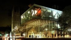 OMA wins competition for the Beaux Arts Museum in Quebec expansion,Grand hall © OMA, render by Luxigon