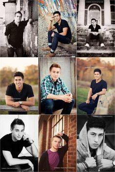 senior boys posing