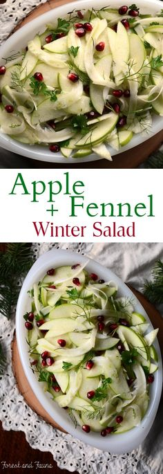 This apple fennel winter salad is arefreshing dish to add to the holiday dinner table. Or a great side to balance out your dinner plate any night of the week. Granny smith apples and fennel are two ingredients I pretty much have on hand at all times in the fall. I love how they balance...