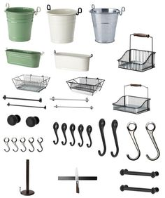 Small Kitchen Remodeling Ikea fintorp baskets and stuff for storing tea towels - Ikea Kitchen Storage, Ikea Storage, Kitchen Decor, Kitchen Pegboard, Storage Ideas, Kitchen Craft, Pegboard Craft Room, Ikea Pegboard, Kitchen Ideas
