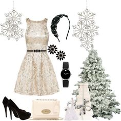 """""""Christmas Outfit"""" by ivetaozola on Polyvore"""
