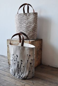 canvas bags and the stitched print...love it.
