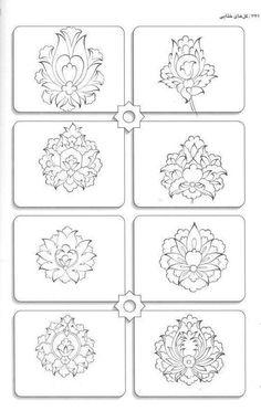 Repetitive wallpaper diy Islamic Art Pattern, Pattern Art, Arabesque, Iranian Art, Islamic Calligraphy, Tile Art, Geometric Art, Embroidery Patterns, Stencils